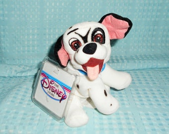 "Adorable Disney 8"" Dalmatian from The Movie ""101 Dalmatians/One Of The 1st Puppies Made With No Name/So Cute With Wagging Tongue/New W Tags"