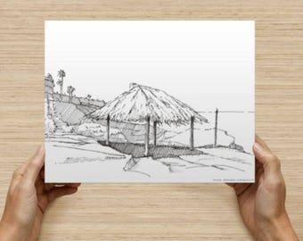 Wind And Sea Beach in La Jolla, California 8x10