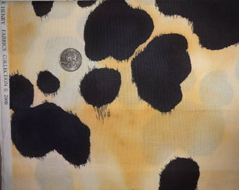 Old Paint Cows Hide Alexander Henry Quilting Cotton Fabric ONE yard ONLY