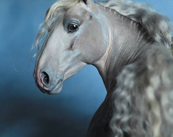 Horse FOR ORDER. OOAK horse sculpture. Horse model. Horse art.