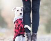 Sweatshirt dog clothes, Warm dog pullover, Custom dog clothes, dog sweater, Hundemantel, Dog jacket, Dog coat, All breeds, Buffalo plaid