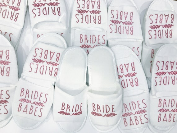 Bridesmaid Slippers | Bride tribe Gift | Bride Slippers