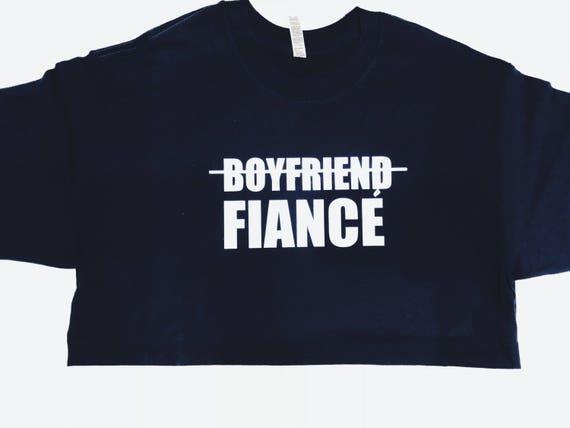 Boyfriend to Fiancé T shirt   Fiancé Shirt   Upgrade tee