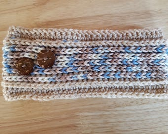 Ribbed Crochet Ear Warmer Headband - Mirage