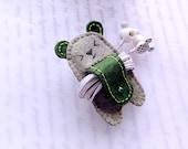 Écouteurs Winder, Olive vert d'ours avec queue, attaches à cordes