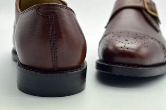 Handmade Goodyear Welted Men's Single Monk-Strap Dress Shoes