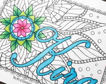 Name coloring page from an Original drawing-Kira