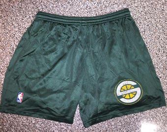 Vintage 90s Seattle Supersonics Shorts jersey kemp payton ewing champion ray allen barry westbrook schrempf durant hawkins mason mcdaniel