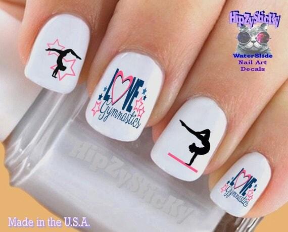 Sports Nail Decals Gymnast 2 Love Gymnastics Nail