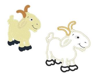 Billy Goat  Machine Embroidery Designs Applique Instant Download Embroidery Designs Goats 4X4 5X7 6X10 8X8 Pes Vp3 Farm Animal