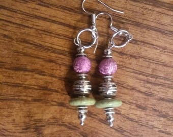 Lotus metal - Handmade earrings by Ansley Jukeboxx Joye