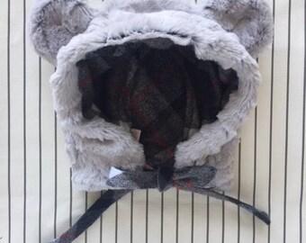 Faux Fur Baby Polar Bear Hat