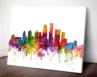 Louisville Skyline Canvas Print, Louisville Art, Louisville Cityscape, Louisville Art Print, Home Decor, Gift Idea, USKYLO06C