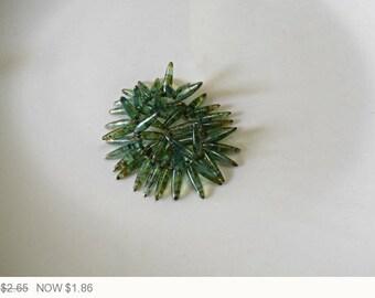 ON SALE Aqua Green Thorn Czech Glass Beads Green Picasso Thorns Glass Beads Aqua Thorn Picasso Czech Glass Aqua Bead 15x4mm (20pcs) 198V3