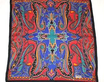Liberty of London Paisley Print Vintage Silk Scarf - Hand Rolled Hem, S113