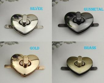 6 pieces 3CM leather bag lock leather purse lock Purse lock twist purse turn lock clutch clock bag lock bear lock XY078