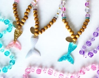 Ariel Necklace: Little Girls Mermaid Tail Necklace