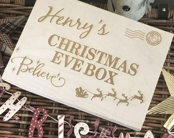 Personalised Wooden Christmas Eve Box - Henry Design
