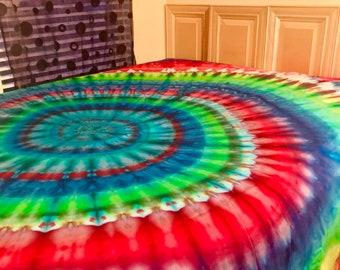 Tie Dye Sheets, Tie Dyed Sheets, Tie Dye Sheet Sets, Tie Dyed Sheet Set, TieDye pillow case, tiedye flat sheet, tiedye fitted sheet, tie dye