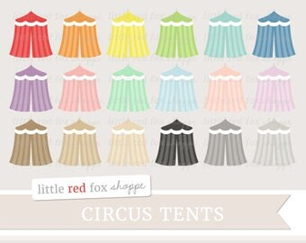 Circus Tent Clipart, Circus Clip Art, Carnival Clipart, Festival Clipart, Zoo Clipart, Cute Digital Graphic Design Small Commercial Use