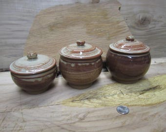 Vela 7: Lidded Jars