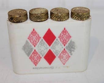 Vintage Clairol Brownettes Lipstick Case with Four Lipstick Tubes