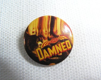 Vintage 80s The Damned - Anything Album (1986)  - Pin / Button / Badge