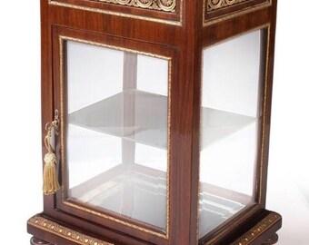 Baroque glass Cabinet antique style MoVi1244