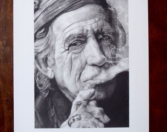 Keith Richards Limited Edition Print