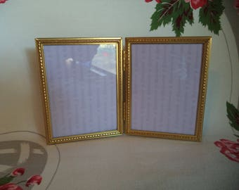 vintage metal double picture frame metal picture frame 2 325 x 425 in - Double Picture Frame