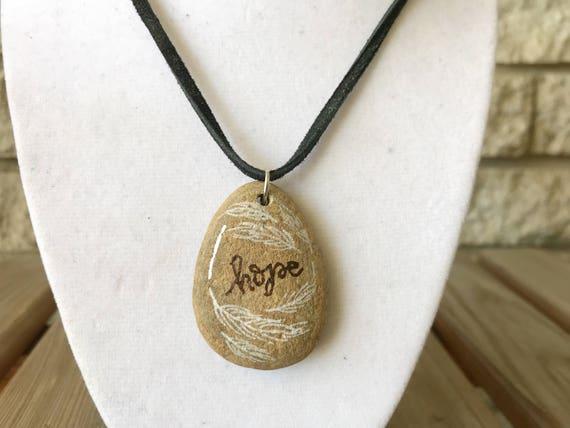 Catholic Christian Jewelry * Catholic Pendant Necklace * Stone Pendant Necklace * Rustic Jewelry