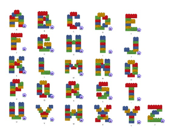 Lego Blocks Lego Bricks Lego Brick Block Font Machine