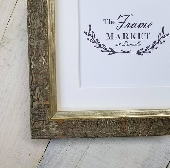 Haven Light Distressed Wood Picture Frame With White Mat