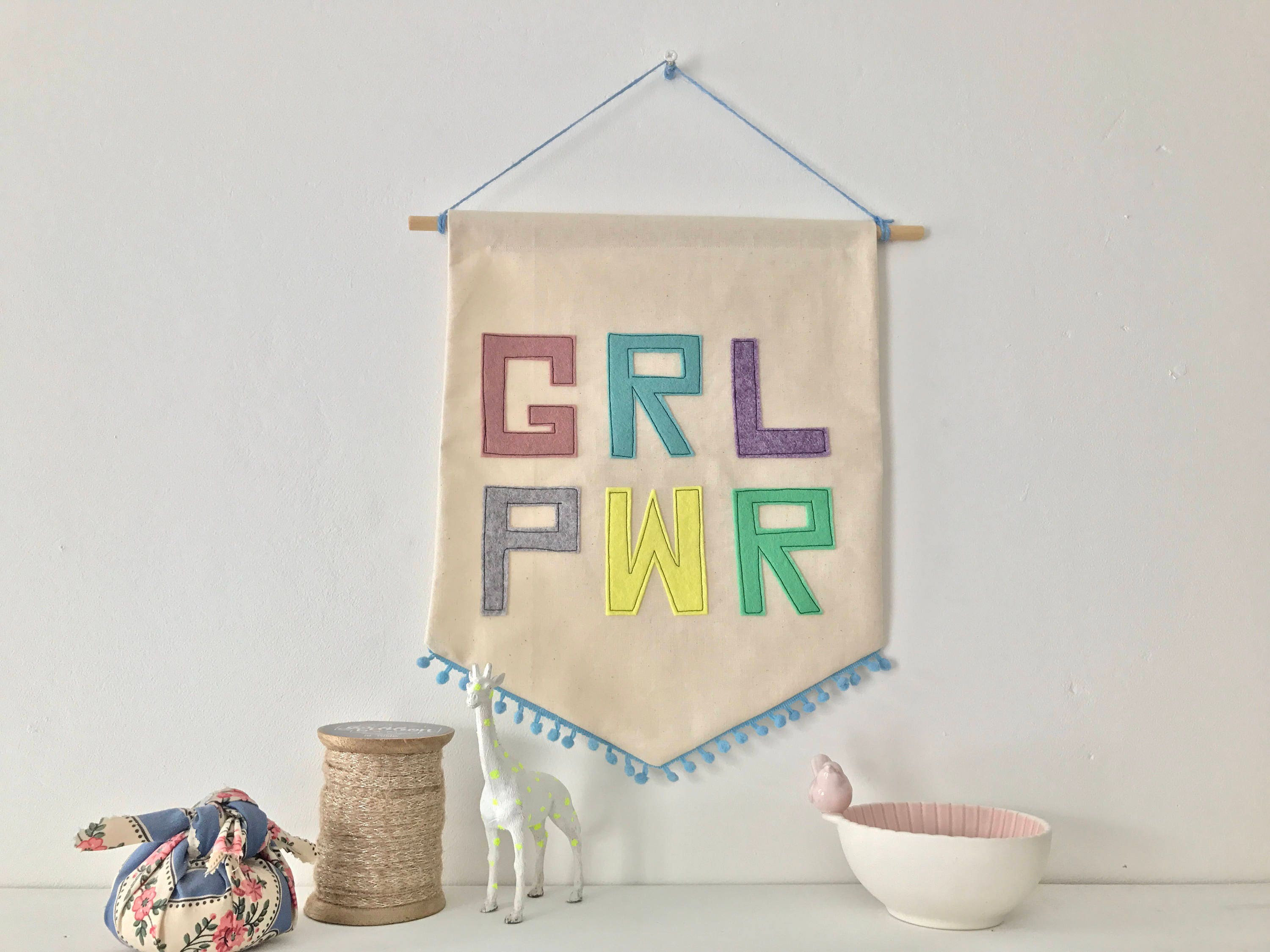 Girl Power Quotes Handmade Wall Banner  Girl Power  Inspirational Quotes