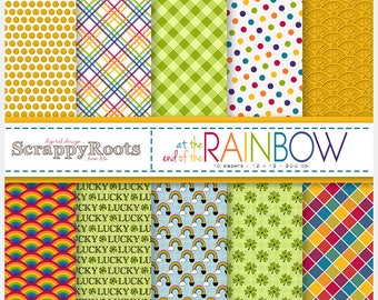 Digital Scrapbooking St. Patrick's Day Paper: At the End of the Rainbow