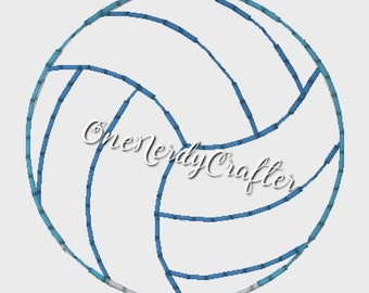 Volleyball Flasher Feltie Embroidery Digital Design File