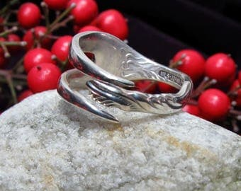 Fork ring.  Two tine Fork ring. Ring made from a vintage silver plated fork. Unique design.