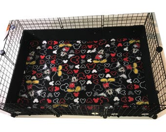PREMADE Mickey Mouse Cageguard Guinea Pig Cage with Liner