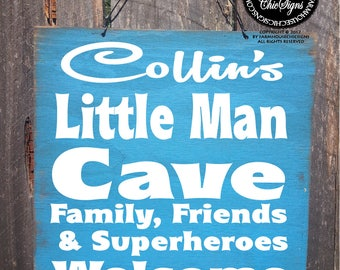 personalized lil man cave sign, custom lil man sign, boys bedroom sign, nursery decor