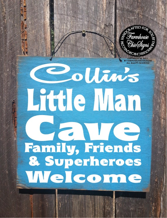 Personalized Man Cave Signs Etsy : Personalized lil man cave sign custom boys