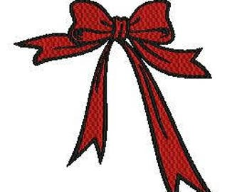 bow machine embroidery design
