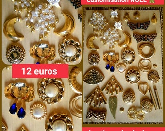 30 Golden customisation Christmas cabochons