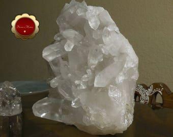 Large Clear Quartz Cluster Point, Natural Quartz Cluster Point, Raw Crystal Point with Stand, Large Clear Quartz, Master Healer