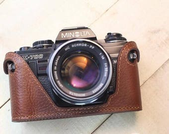 Minolta X700 X300 XD7 xd5 xd11 cameras case, leather camera case, Minolta X700 Half Case,Leather Camera Case