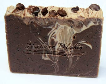 Coffee Soap - Exfoliating Soap, Vegan Soap, Gardener's Soap, Mechanics Soap, Kitchen Soap, Scrubby Soap, Mens Soap, Natural Soap