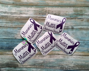 Alzheimer's awareness, Dementia decal,  Alzheimer's decal, Memories matter, Memories matter decal, Dementia car decal, Memories decal,