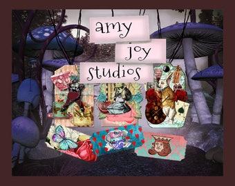 Alice in Wonderland Decorations  ClipARt Clip art  Junk Journal Kit  Digital Journal   Digital Art - Digital Paper mini album
