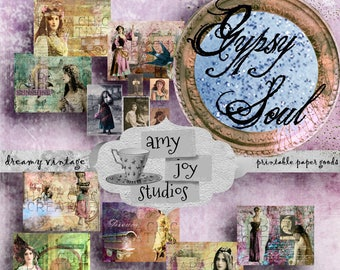 Gypsy Soul  Gypsy Journal  Boho Journal  Printable Journal Kit  Vintage Journal  Bohemian Journal  Digital Journal Kit  Ephemera Digital