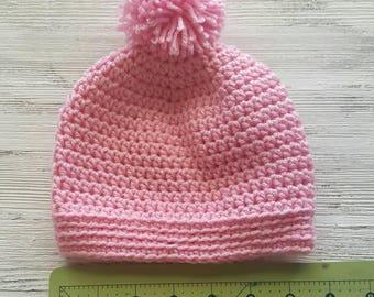 Pompom hat,  ready to ship, Sale