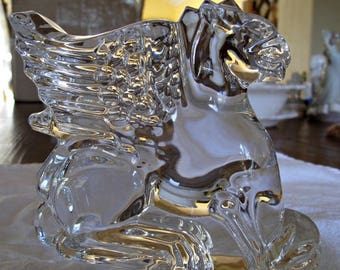 Baccarat Mythical Griffin Crystal Sculpture